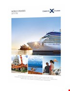 Έντυπα και μπροσούρες της Celebrity Cruises.